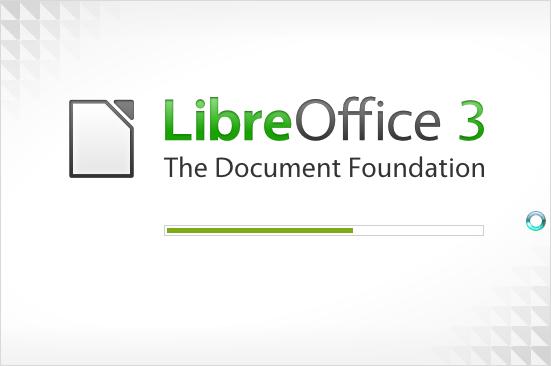 Libre Office - ekran ładowania