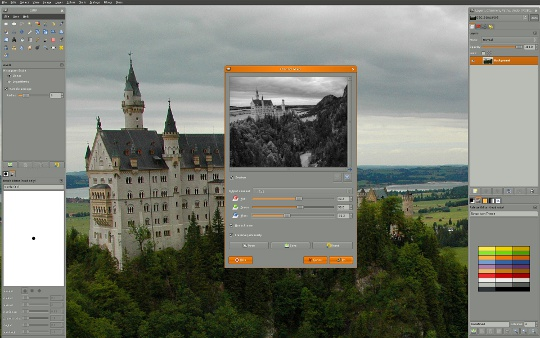 gimp i nowy interface