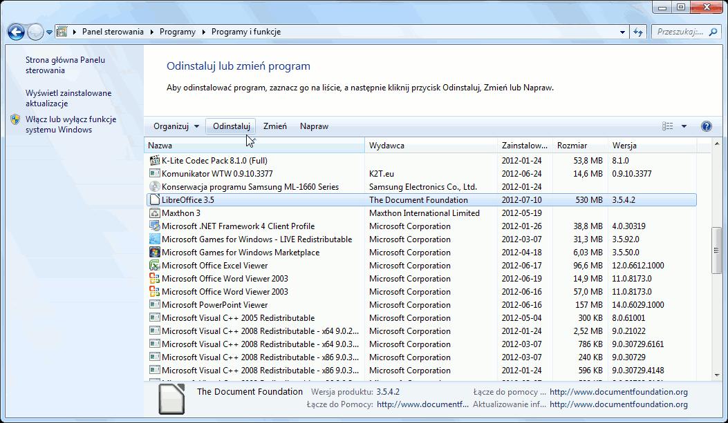 lista programów