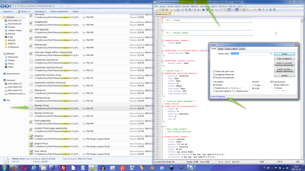 Okno wyszukiwania w windows 7