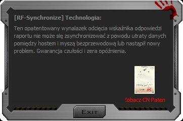 Screen pokazujący kiepskie tłumaczenie oprogramowania Bloody.