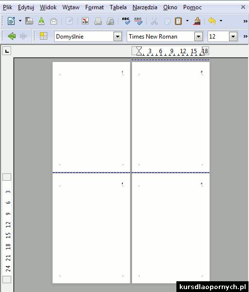 dodatkowe puste strony