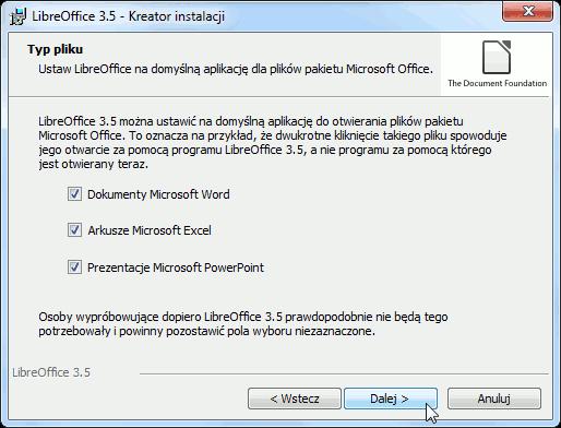 otwieranie plików MS Office